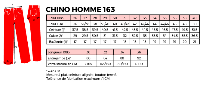 taille chino 1083