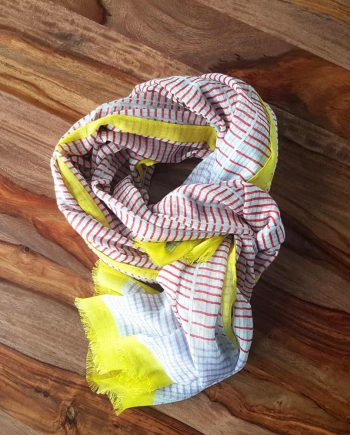 Foulard jaune coton modal anna kaszer
