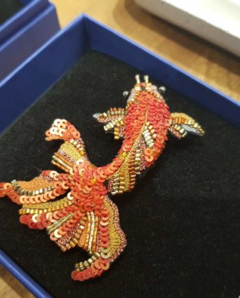 broche artisanale poisson japonais ide
