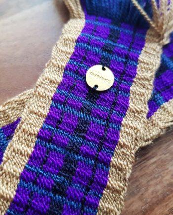 ceinture tissée main Wayuu violet