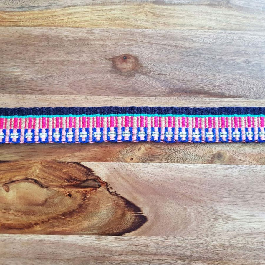 Ceinture tissée à la main artisanat Wayuu coloré