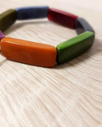 bracelet coloré en tagua ivoire végétal