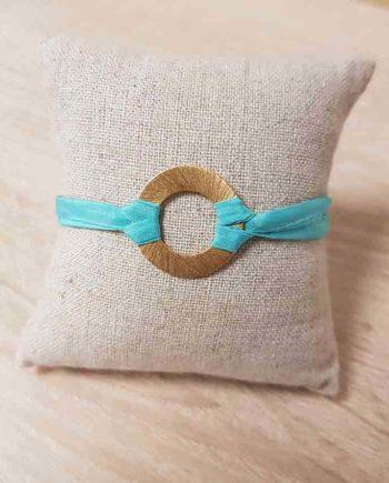 bracelet l'or du sud ylume bleu lagon