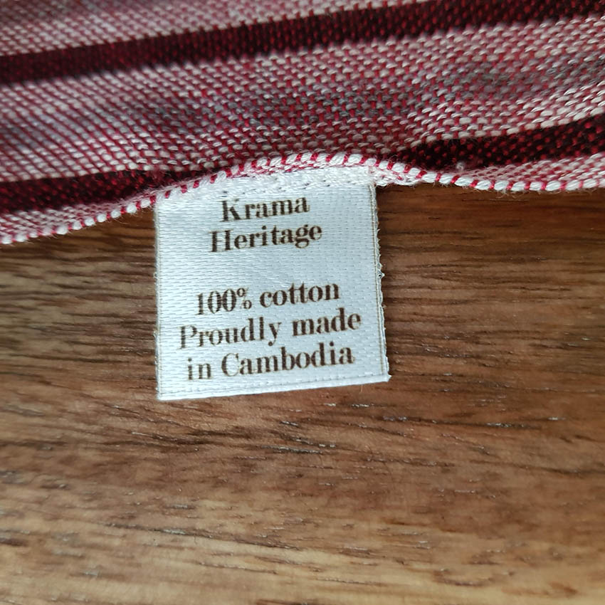 krama traditionnel bordeaux krama heritage