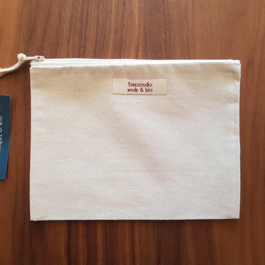 pochette coton recyclé pissenlit steez