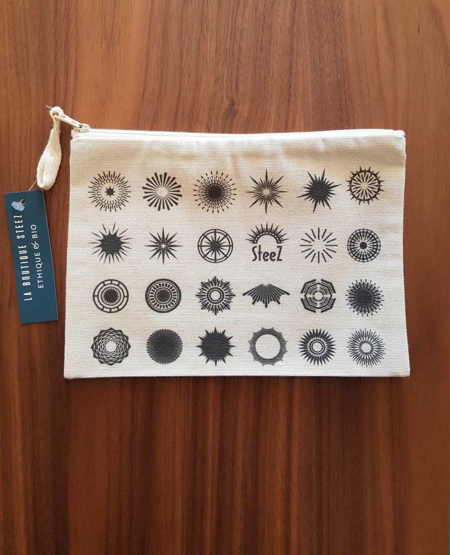 pochette coton recyclé oiseaux sur un fils steez