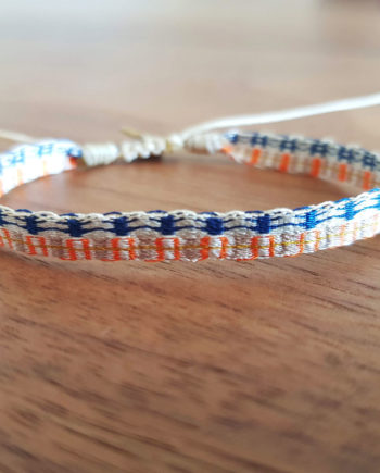 é à la main Wayuu bleu et orange