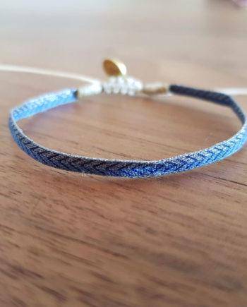 é à la main Wayuu bleu argenté