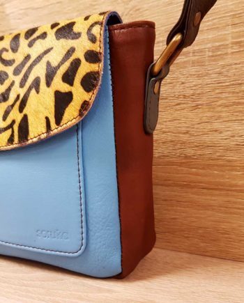 sacoche bleu leopard soruka