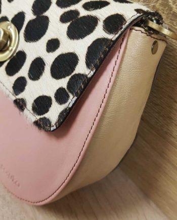 sac rose pale à poids soruka cuir recyclé
