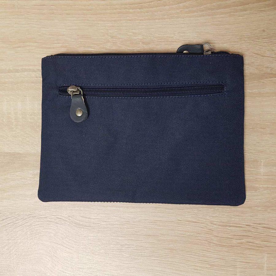 grande pochette bleu anna kaszer