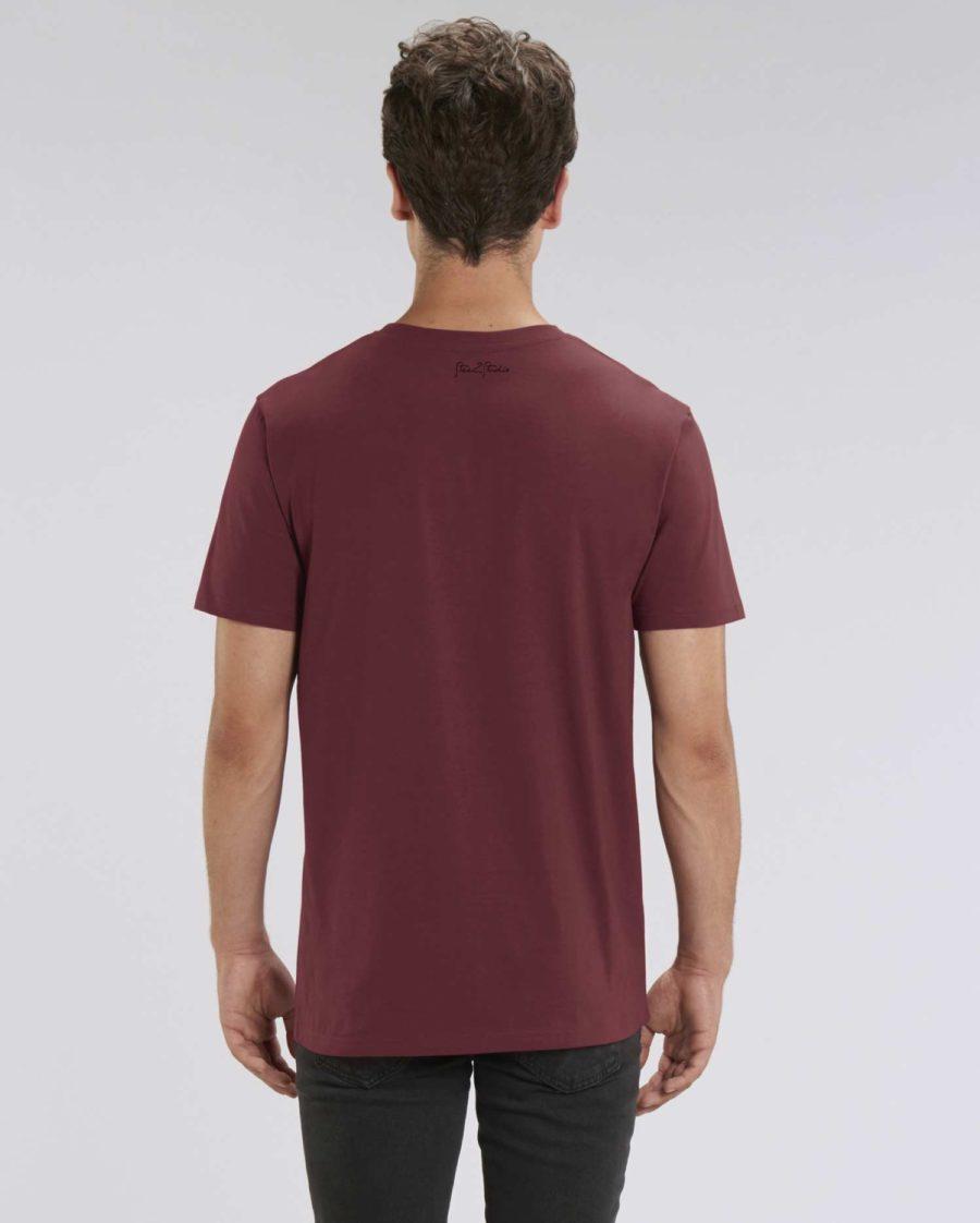tee shirt méduse bordeaux coton bio steez