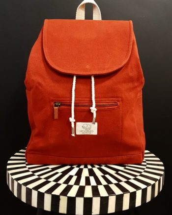 sac à dos toile de coton terracotta hindbag