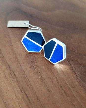 boucles d'oreille argent lapiz lazuli agate