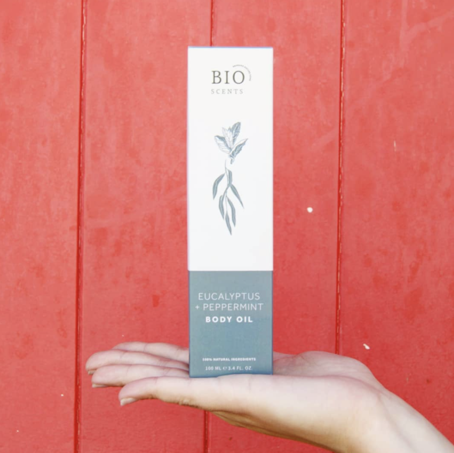 Huile corporelle huile essentielle BIO eucalyptus et menthe poivrée