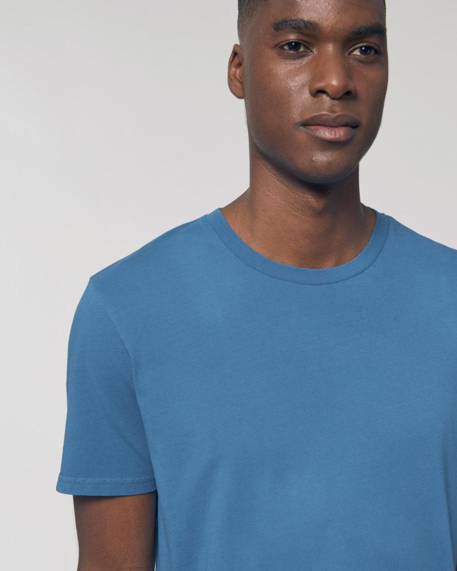 tee-shirt coton bio bleu vintage steezstudio steez