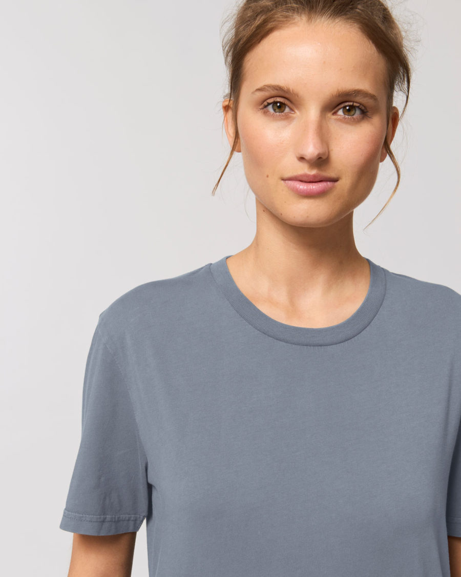 tee-shirt coton bio gris violet vintage steezstudio steez