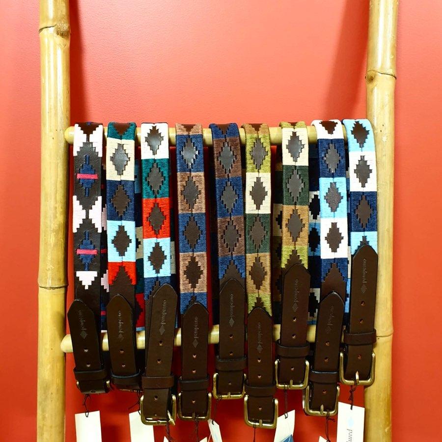 ceinture pampeano cuir et tissage
