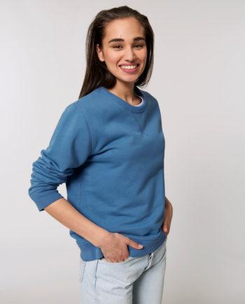 sweat vintage bleu coton bio steezstudio steez