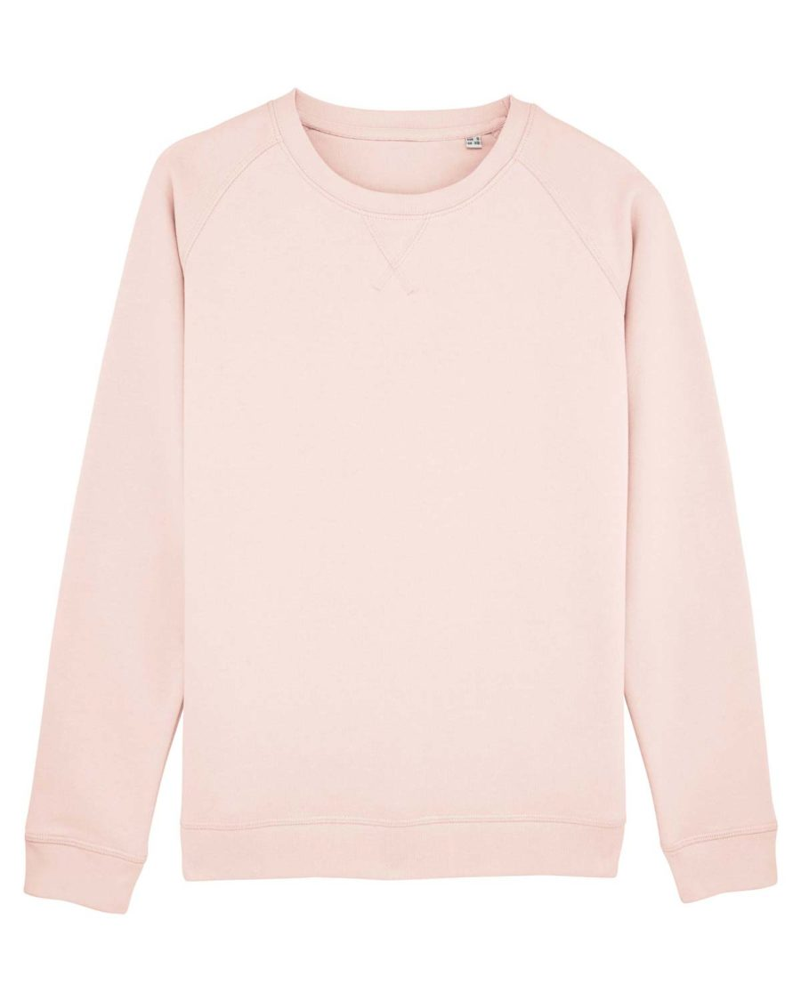 sweat shirt femme coton bio rose clair layette Steez