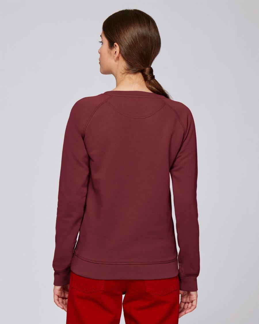 sweat shirt femme coton bio bordeaux Steez