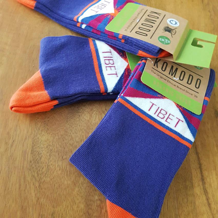 chaussettes komodo tibet bleu