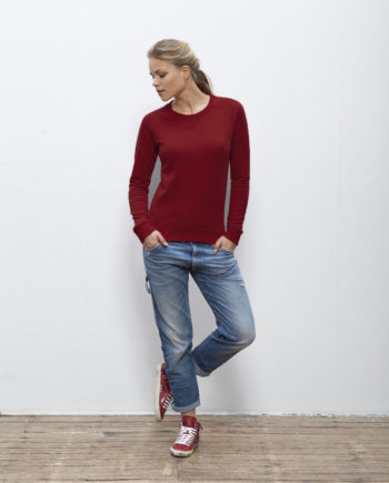 sweat shirt femme coton bio bordeaux Steez