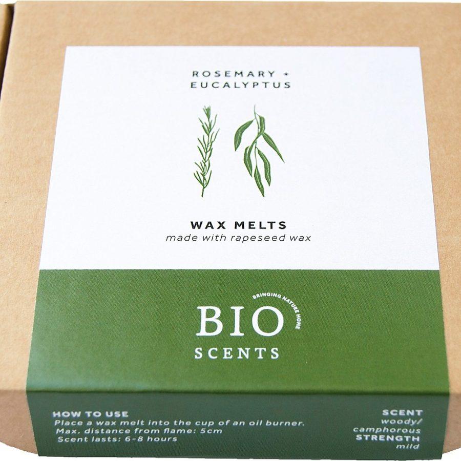 Cire aux huiles essentielles de romarin et eucalyptus bio