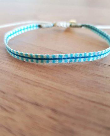 Bracelet tissé à la main Wayuu turquoise