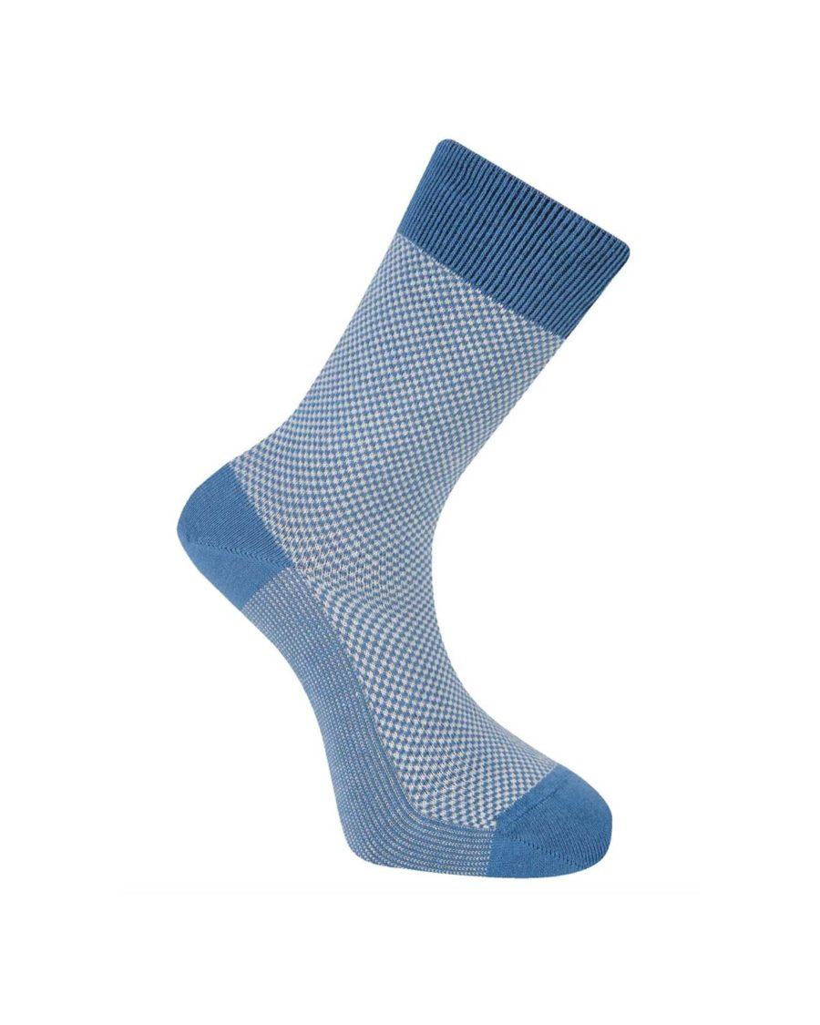 chaussettes komodo carreaux bleus