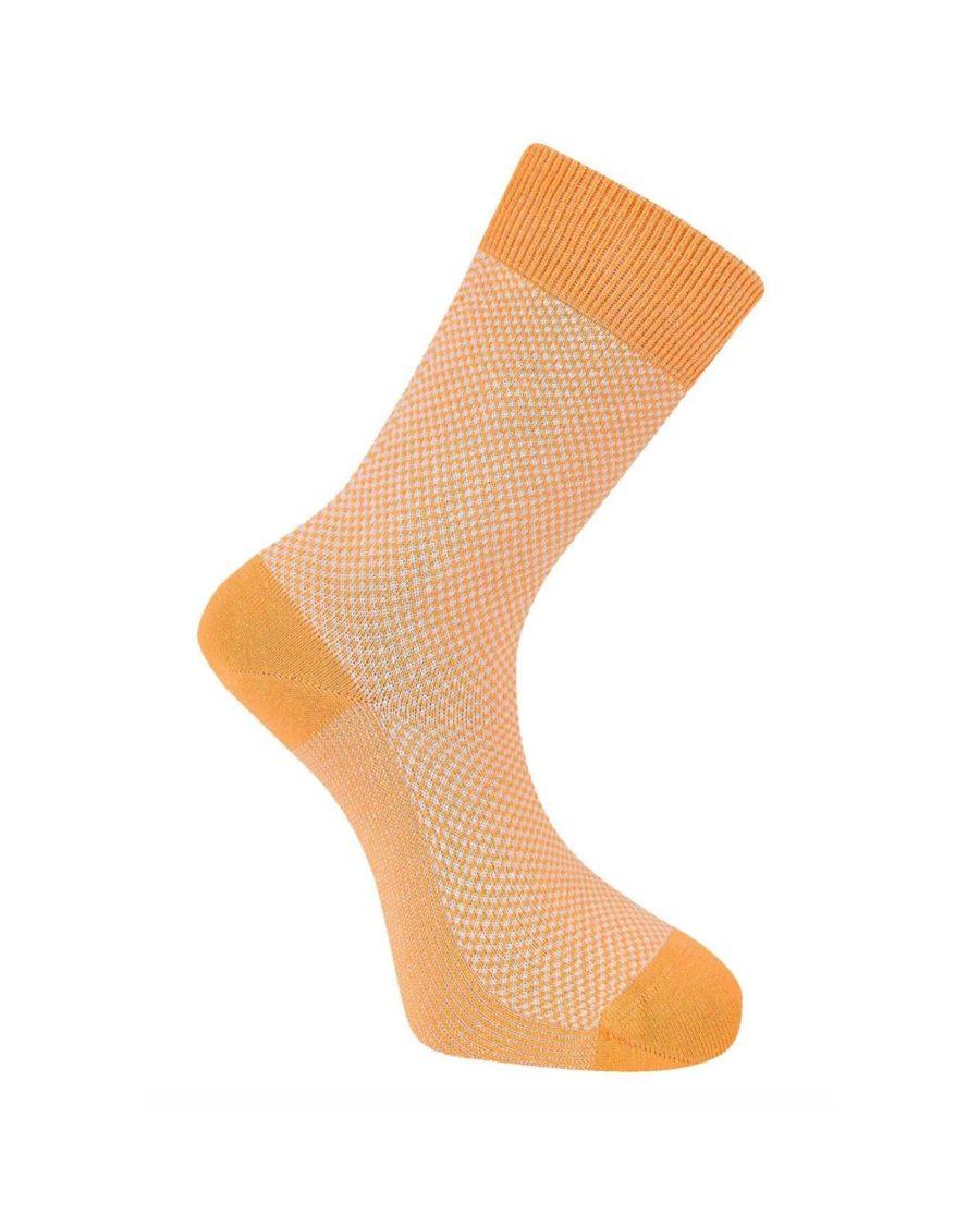chaussettes komodo carreaux oranges