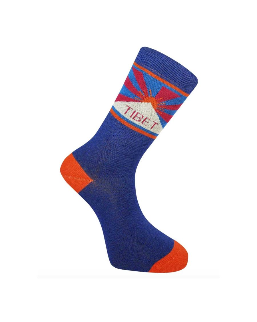 chaussettes komodo bleu Tibet