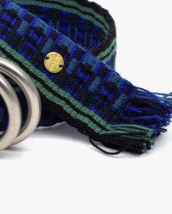 ceinture tissée main wayuu bleu et noir