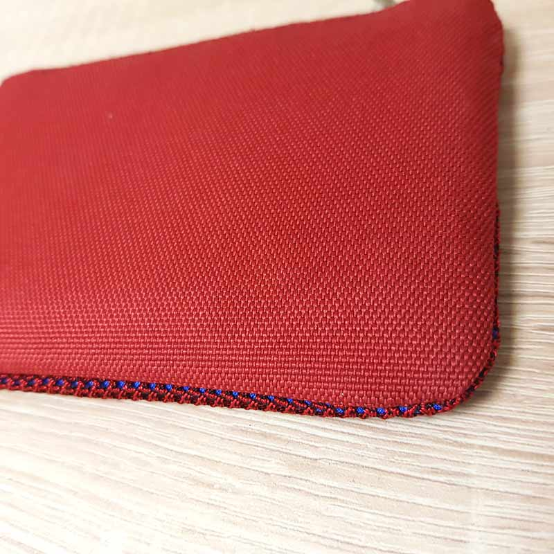 porte-monnaie rouge et bleu Anna Kaszer