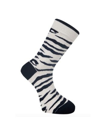 chaussettes komodo zébré noir blanc