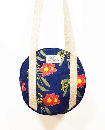 Petit sac rond à fleur coton bio