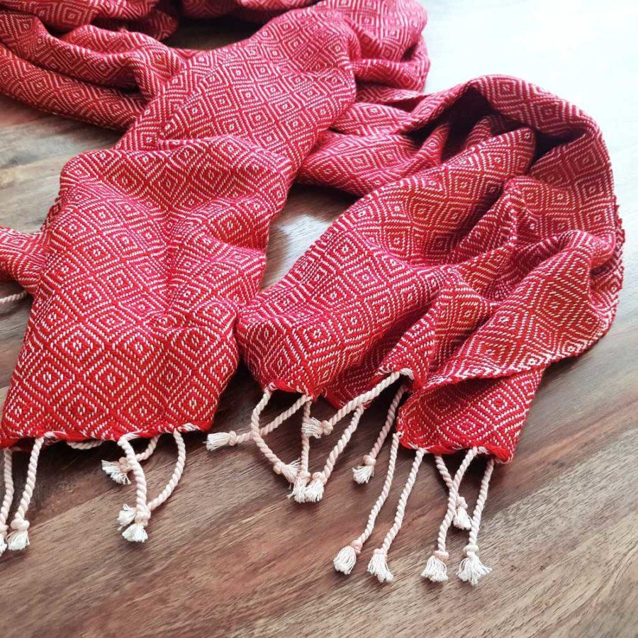 krama couton rouge chaud