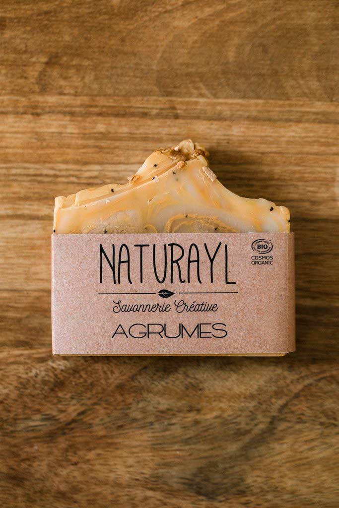 savon bio aux agrumes à froid