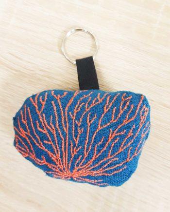 porte clé corail bleu les curiosités de fred
