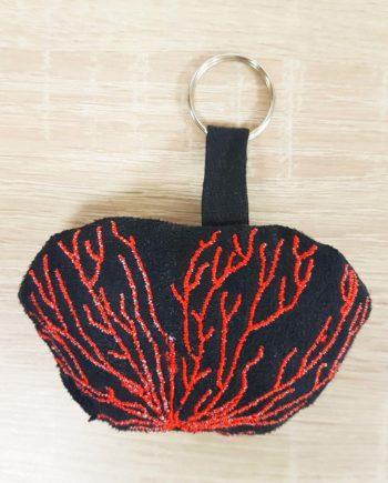 porte clé corail noir et rouge les curiosités de fred
