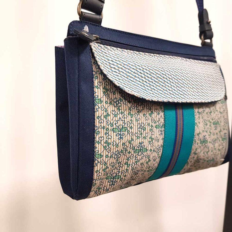 sac en toile bleu anna kaszer
