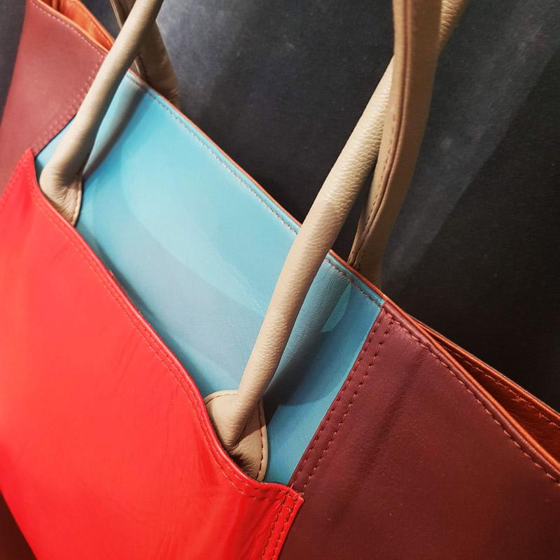 sac à main soruka cuir recyclé rouge