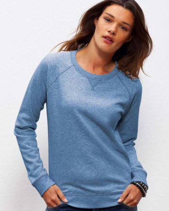 sweat shirt femme coton bio bleu clair chiné Steez
