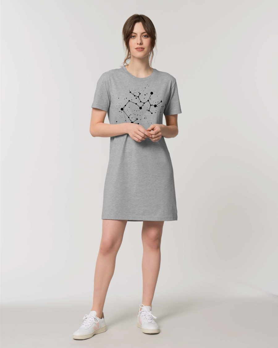robe teeshirt coton bio constellation