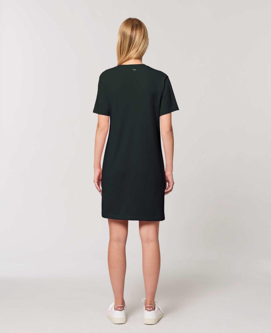robe teeshirt coton bio noire visage trait