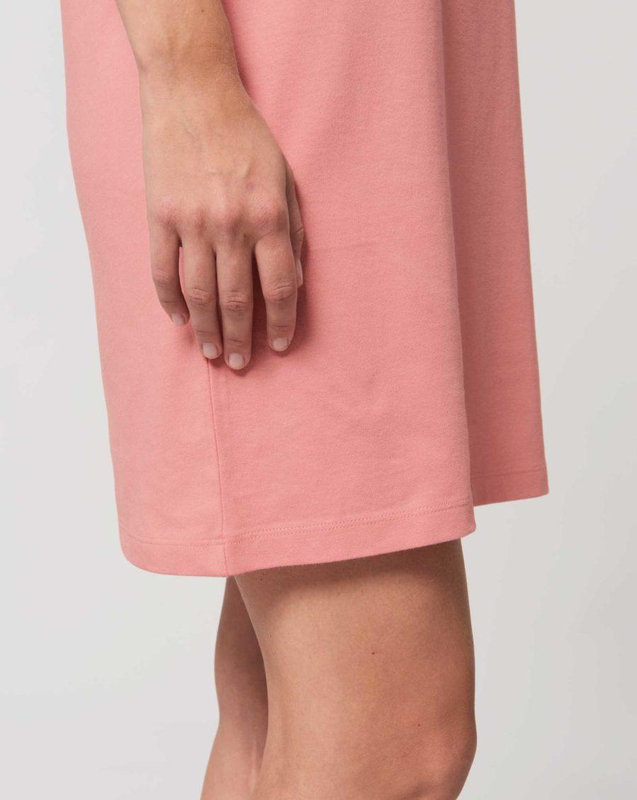 robe teeshirt coton bio rose impression méduse