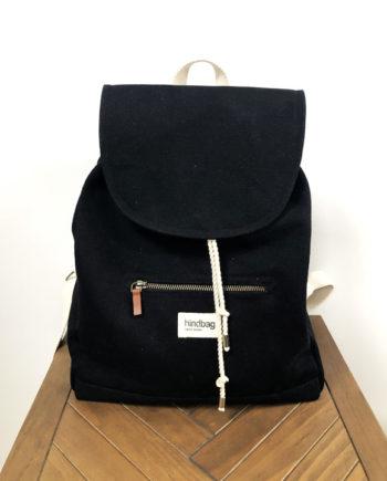 sac à dos noir coton hindbag ELIOT