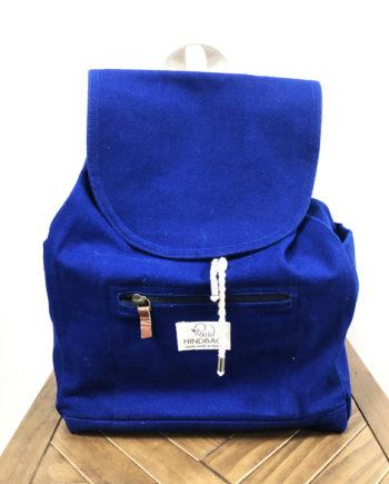 sac à dos bleu électrique coton hindbag ELIOT