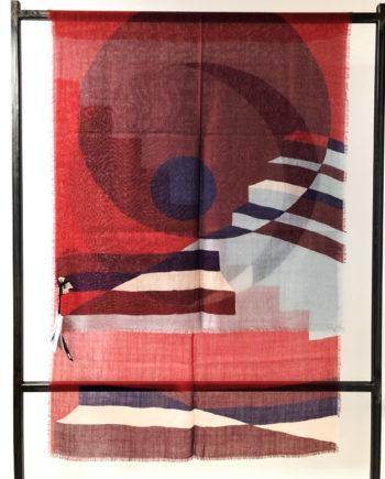 écharpe en laine Boulbar pleine lune rouge