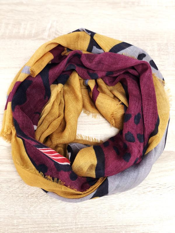 foulard tigre Boulbar moutarde